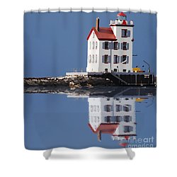 Lighthouse Oils Reflection Shower Curtain