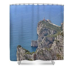 Lighthouse On The Cliff Shower Curtain