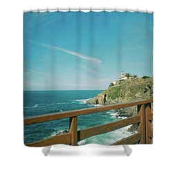 Lighthouse Over The Ocean Shower Curtain