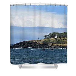 Shower Curtain featuring the photograph Lighthouse by Pamela Walton