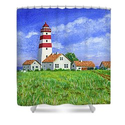 Lighthouse Pasture Shower Curtain