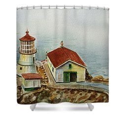 Lighthouse Point Reyes California Shower Curtain