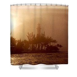 Lighthouse Point Sunrise Shower Curtain by Brent L Ander