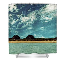 Lighthouse Scenery At List Shower Curtain by Hannes Cmarits