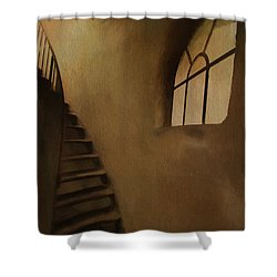 Shower Curtain featuring the photograph Lighthouse Stairs by Jim  Hatch