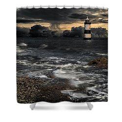 Lighthouse Storm Shower Curtain