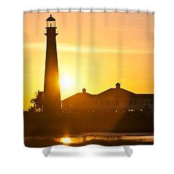Lighthouse Sunset Shower Curtain