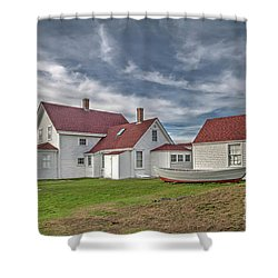 Keepers House At The Monheagn Lighthouse Shower Curtain