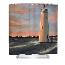 Lighthouse Waves Shower Curtain