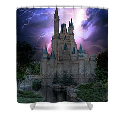 Lighting Over The Castle Shower Curtain