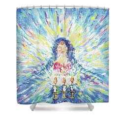 Lighting Shabbot Candles Shower Curtain