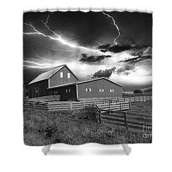 Lighting Strike  Shower Curtain