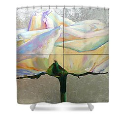 Shower Curtain featuring the painting Lightness by Eva Konya