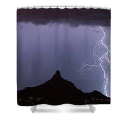 Lightnin At Pinnacle Peak Scottsdale Arizona Shower Curtain by James BO  Insogna