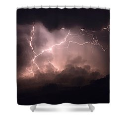 Lightning 2 Shower Curtain by Bob Christopher