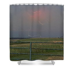 Lightning Bolt On A Scenic Route Shower Curtain