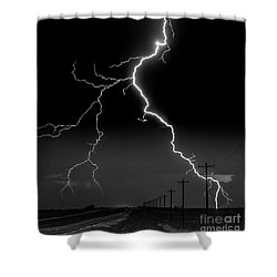 Lightning Bolt Shower Curtain