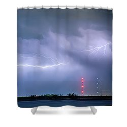 Lightning Bolting Across The Sky Shower Curtain by James BO  Insogna