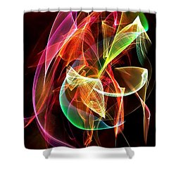 Shower Curtain featuring the digital art Lightning By Nico Bielow by Nico Bielow