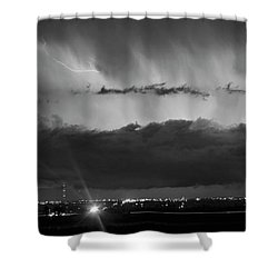 Lightning Cloud Burst Black And White Shower Curtain by James BO  Insogna