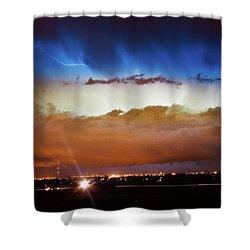 Lightning Cloud Burst Boulder County Colorado Im34 Shower Curtain by James BO  Insogna
