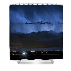 Lightning Cloud Burst Shower Curtain by James BO  Insogna