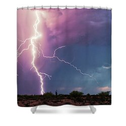 Lightning Dancer Shower Curtain