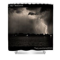 Lightning Energy Poster Print Shower Curtain by James BO  Insogna