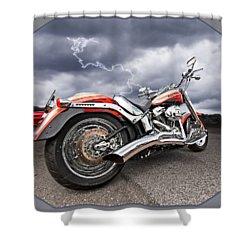 Lightning Fast - Screamin' Eagle Harley Shower Curtain