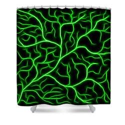 Shower Curtain featuring the digital art Lightning - Green by Shane Bechler