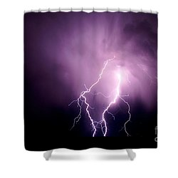 Lightning In The Desert Shower Curtain