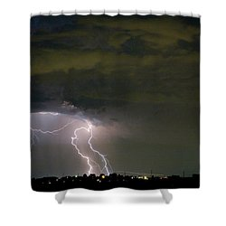 Lightning Man In The Clouds Shower Curtain by James BO  Insogna
