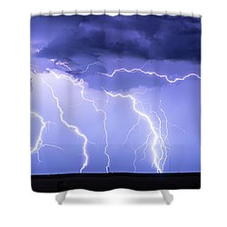 Lightning On The Plains Shower Curtain