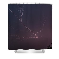 Lightning Over Lake Lanier Shower Curtain