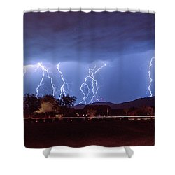 Lightning Over Laveen Shower Curtain by Kimo Fernandez