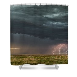 Lightning Shower Curtain