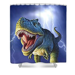 Lightning Rex Shower Curtain