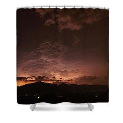 Lightning Streaks  Shower Curtain