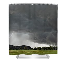 Lightning Strike On Tyringham Plain Shower Curtain