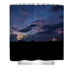 Lightning Sunset Shower Curtain