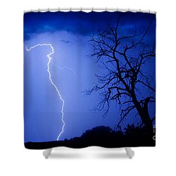 Lightning Tree Silhouette Shower Curtain by James BO  Insogna