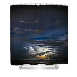 Shower Curtain featuring the photograph Lightning's Water Dance by Steven Santamour