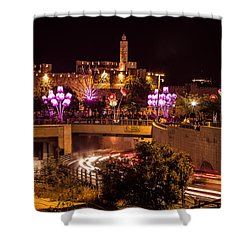 Lights In Jerusalem Shower Curtain