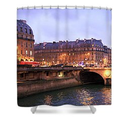 Lights In Paris Shower Curtain by John Rizzuto