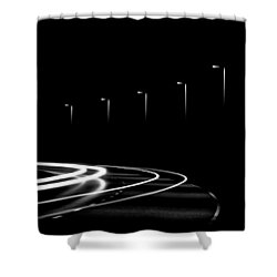 Lights In The Night Shower Curtain by Gert Lavsen