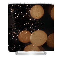 Lights Lights Lights Shower Curtain