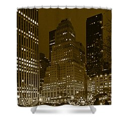 Lights Of 5th Ave. Shower Curtain