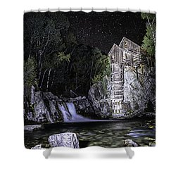 Lights On The Mill Shower Curtain