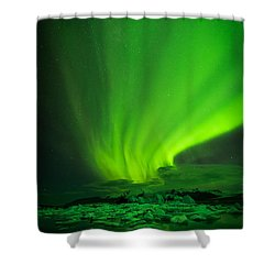 Lights Over Jokulsarlon Shower Curtain