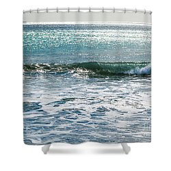 Lightscape On Water Shower Curtain by Michelle Wiarda